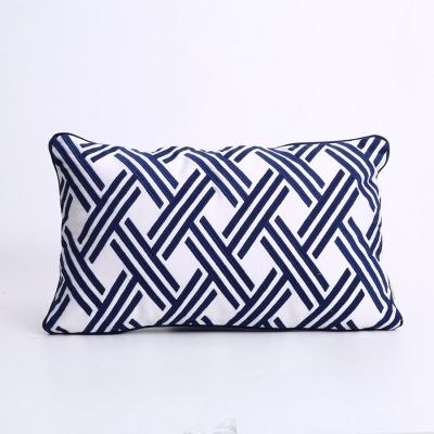 流光溢彩蓝腰枕