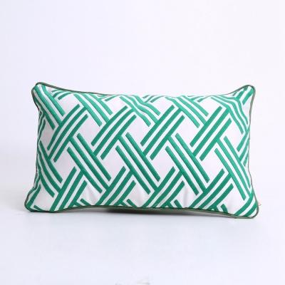 流光溢彩绿腰枕