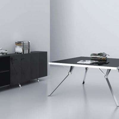 不锈钢玻璃小会议桌