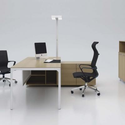 L型带文件柜办公桌