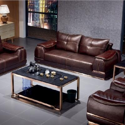 办公沙发简约会客接待商务办公室家具时尚沙发茶几组合