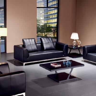 简约现代办公沙发接待沙发商务沙发办公室真皮沙发组合会客室沙发